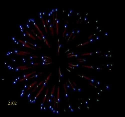 2102. Hoa cúc cánh xanh lơ Reddish gamboge to blue -21chemical