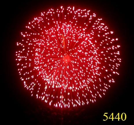 5440.Vòng sao đỏ kép nhụy trắng chuyển nổ lốp bốp Red parallel ring with crackle pistil -21chemical