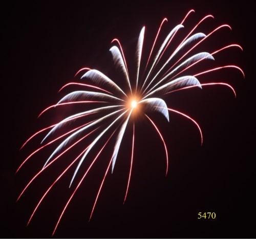 5470. Hai vòng sao đỏ và trắng bạc đồng tâm Red & silver parallel double layer ring -21chemical