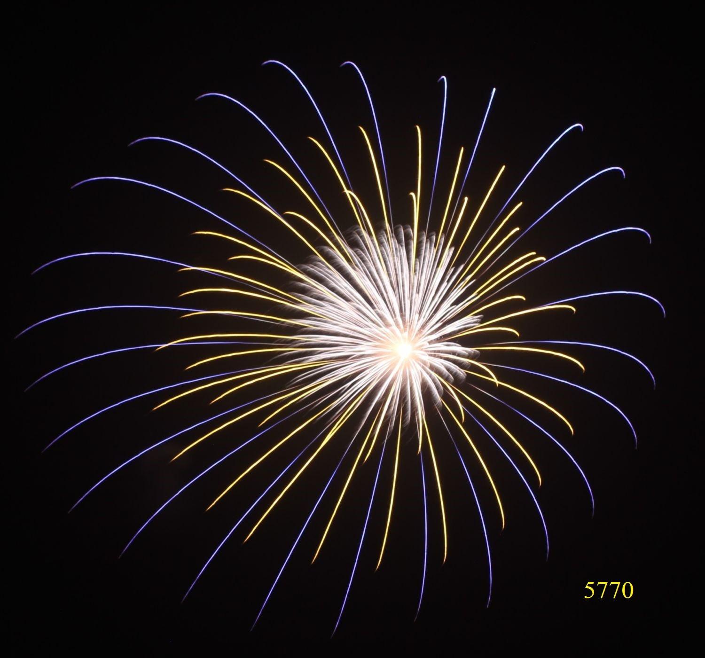 5770. Ba vòng sao vàng xanh lơ vàng lập thể nhụy trắng Yellow & blue & yellow solid triple layer ring with white pistil -21chemical